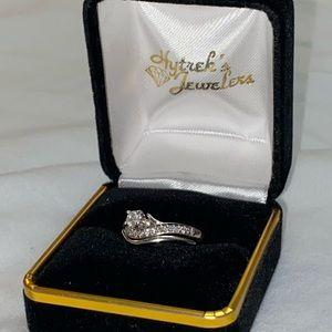 14k White Gold .22ct Round Diamond Engagement Ring